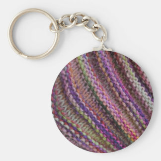 Knitting in Sunset Colours Keychains