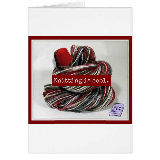 Knitting is Cool Card