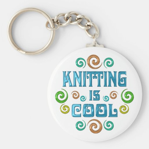 Knitting is Cool Keychains