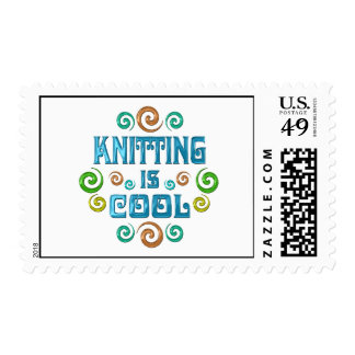 Knitting is Cool Postage Stamps