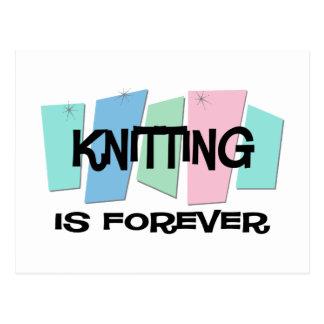 Knitting Is Forever Postcard