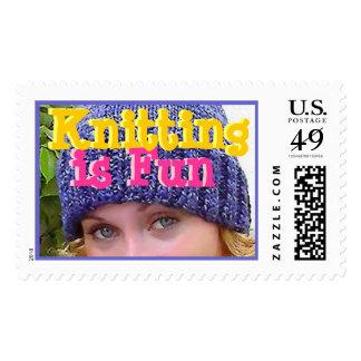 Knitting is Fun Stamp