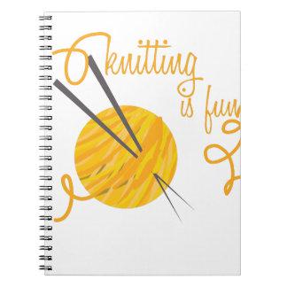 Knitting Is Fun Spiral Notebook