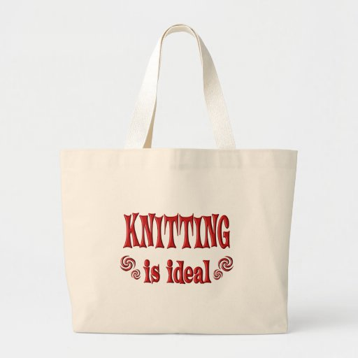 Knitting is Ideal Canvas Bags