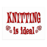 Knitting is Ideal Postcard
