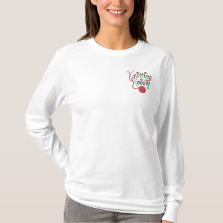 Knitting is Kneat Embroidered Long Sleeve T-Shirt