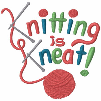 Knitting is Kneat Embroidered Hooded Sweatshirt