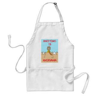 knitting is knirvana guru adult apron