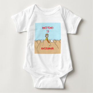 knitting is knirvana guru baby bodysuit