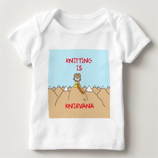 knitting is knirvana guru baby T-Shirt