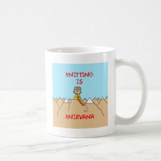 knitting is knirvana guru coffee mug