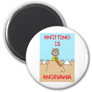 knitting is knirvana guru magnet
