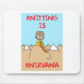 knitting is knirvana guru mouse pad