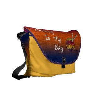 Knitting Is My Bag Rickshaw Messenger Bag
