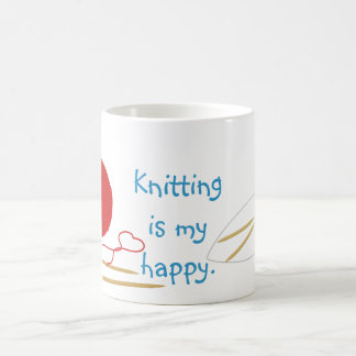 Knitting Is My Happy Mug
