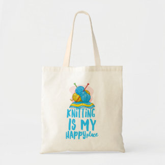 Knitting is my Happy Place Budget Tote