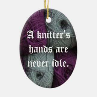 Knitting Is My Passion Ceramic Ornament