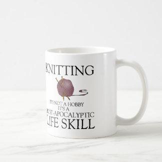 Knitting is not a hobby it's a life skill mug