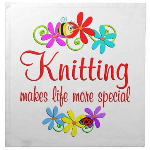 Knitting is Special Napkins