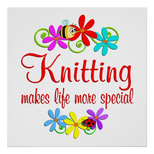 Knitting is Special Print