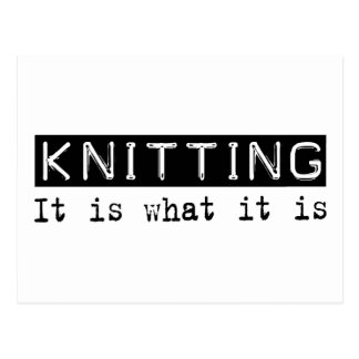 Knitting It Is Post Card
