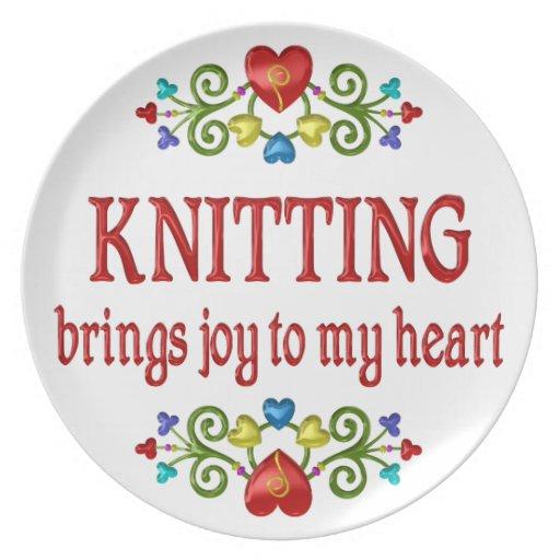 Knitting Joy Dinner Plates