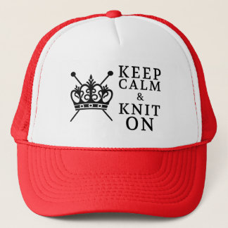 Knitting • Keep Calm Knit On Crafts Trucker Hat