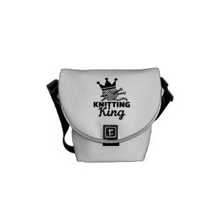 Knitting king messenger bag
