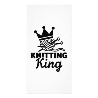 Knitting king photo card