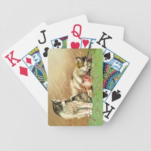 Knitting Kittens Jumbo Playing Cards Bicycle Card Decks