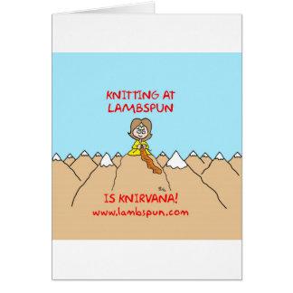 knitting knirvana lambspun card