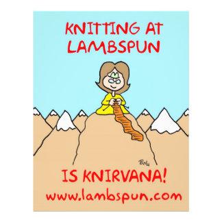 knitting knirvana lambspun full color flyer