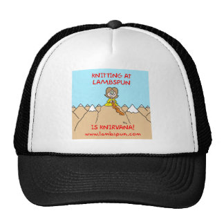 knitting knirvana lambspun mesh hats