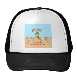 knitting knirvana lambspun trucker hat