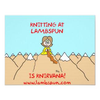 knitting knirvana lambspun custom invitation