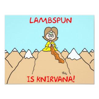 "knitting knirvana lambspun 4.25"" x 5.5"" invitation card"