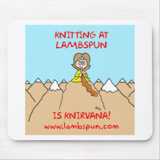 knitting knirvana lambspun mouse pad