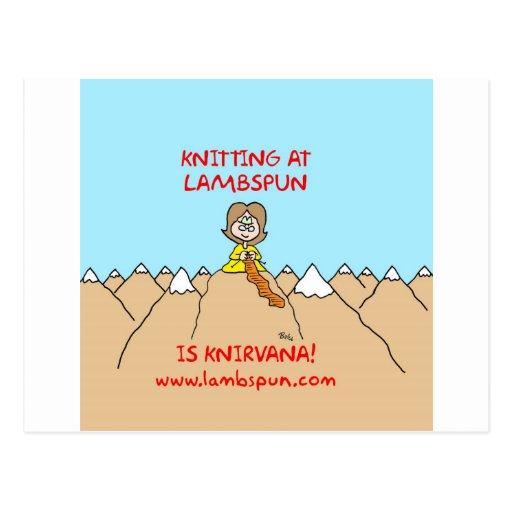 knitting knirvana lambspun post card