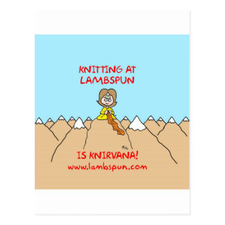 knitting knirvana lambspun postcard