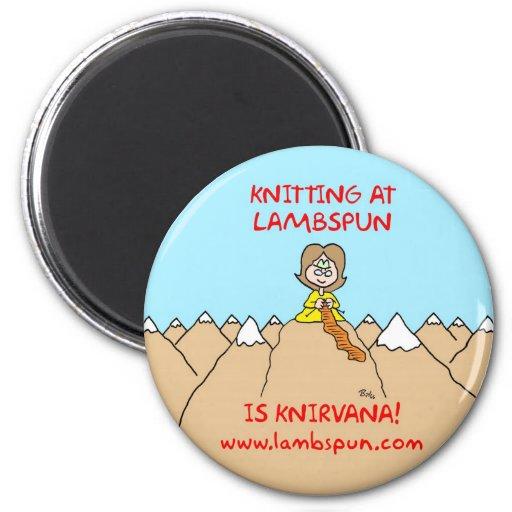 knitting knirvana lambspun refrigerator magnet