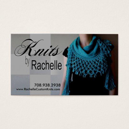 """""""Knitting"""" Knit, Crochet, Handmade, Crafts Business Card"""