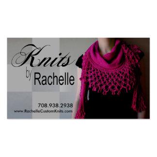 """""""Knitting"""" Knit, Crochet, Handmade, Crafts Business Card Template"""