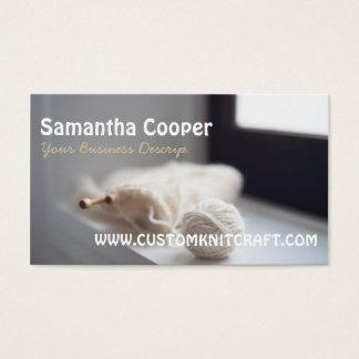 knitting/knitter Yarns Photography Business Card