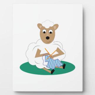 Knitting Lamb Display Plaques