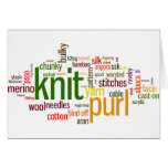 Knitting Lexicon - words for knitters!  Knit On! Stationery Note Card