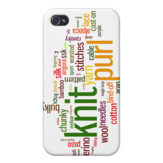 Knitting Lexicon - words for knitters! Knit On! Case For iPhone 4