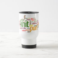 Knitting Lexicon - words for knitters!  Knit On! Mug