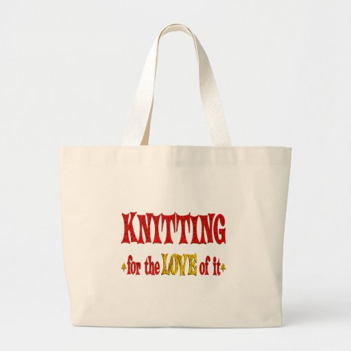 Knitting Love Canvas Bags