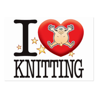 Knitting Love Man Large Business Cards (Pack Of 100)