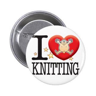 Knitting Love Man 2 Inch Round Button